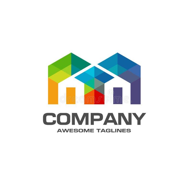 Idérik Real Estate logo stock illustrationer