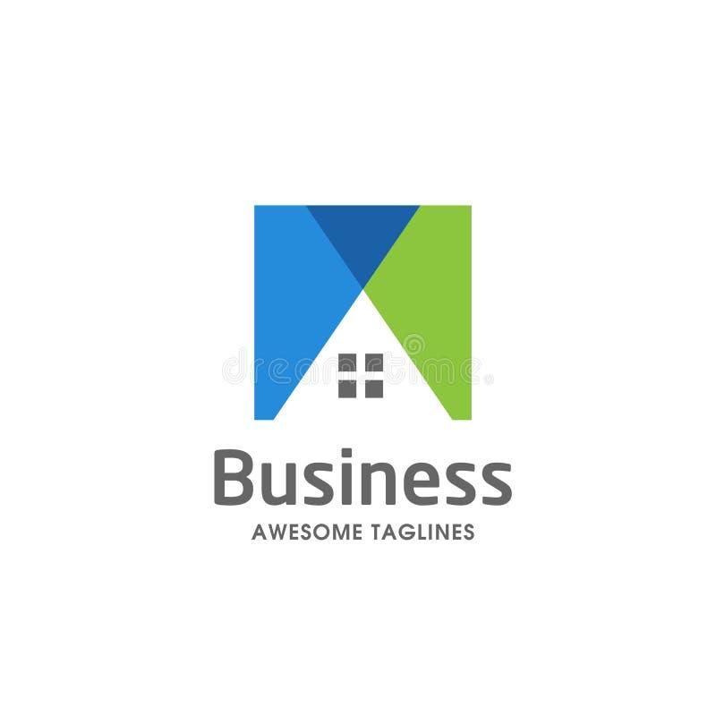 Idérik Real Estate logo, egenskap och konstruktionslogo royaltyfri illustrationer
