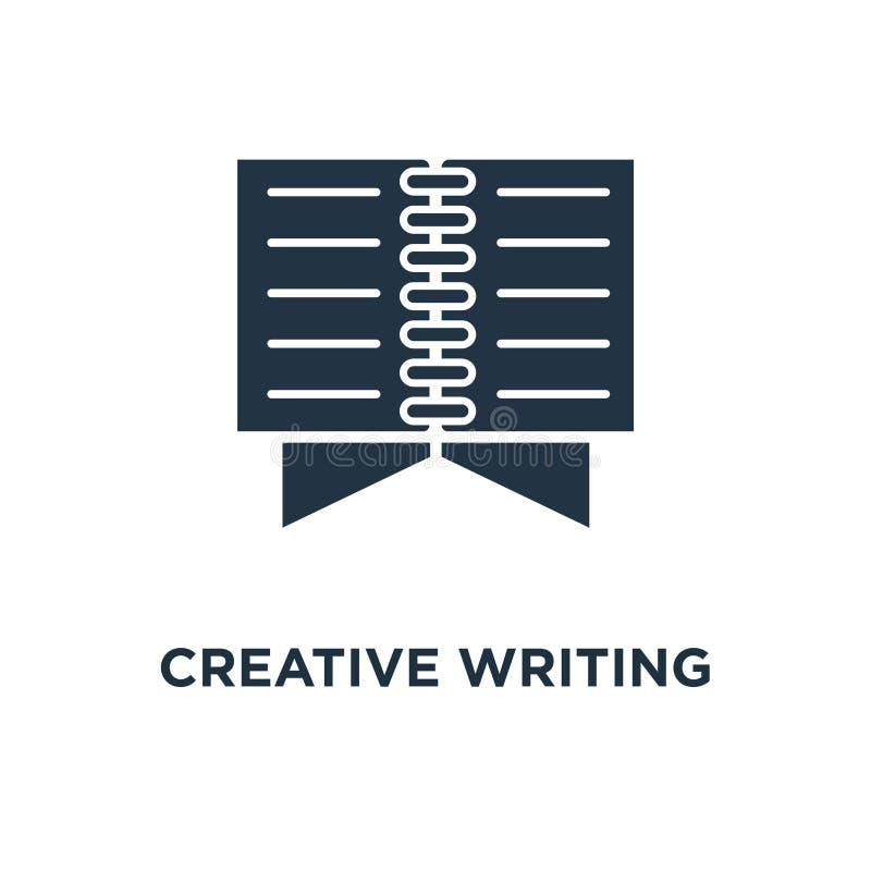 idérik skrivande symbol den öppna boken, läste den korta översikten, uppgiften, den tunna designen för slaglängdbegreppssymbolet, stock illustrationer