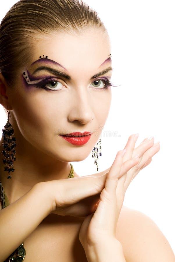 idérik sminkkvinna royaltyfria bilder