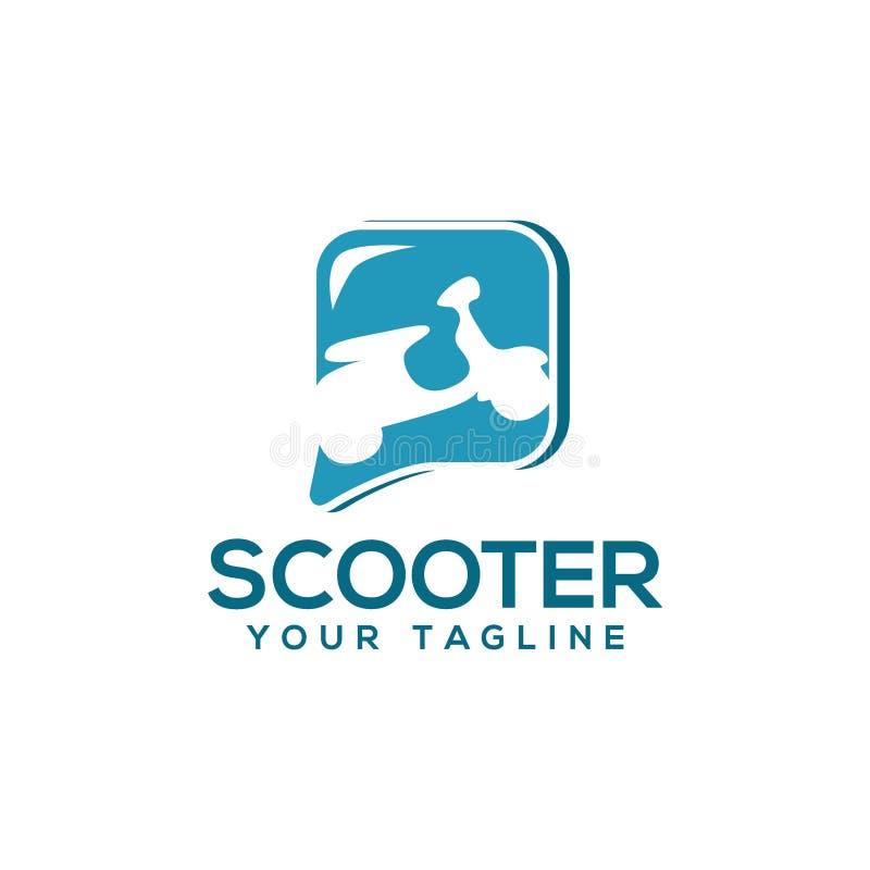 Idérik sparkcykel Logo Vector Art Logo vektor illustrationer