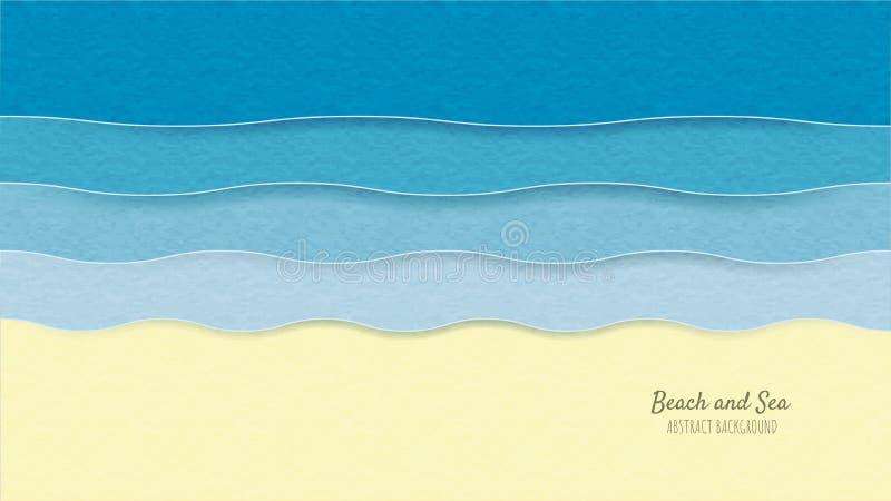 Idérik stil för snitt för papper för illustrationsommarbakgrund royaltyfri illustrationer