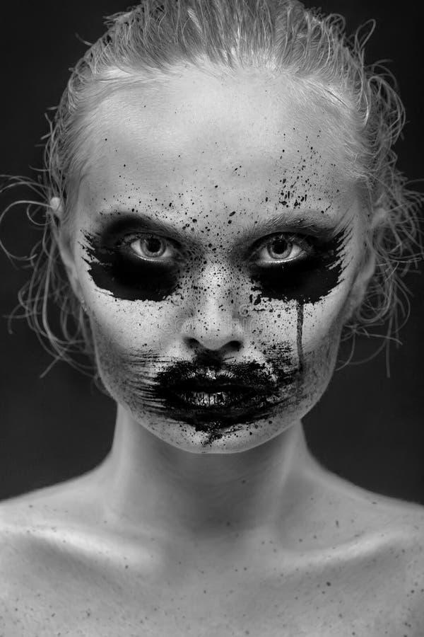 Idérik suddig makeup arkivbild