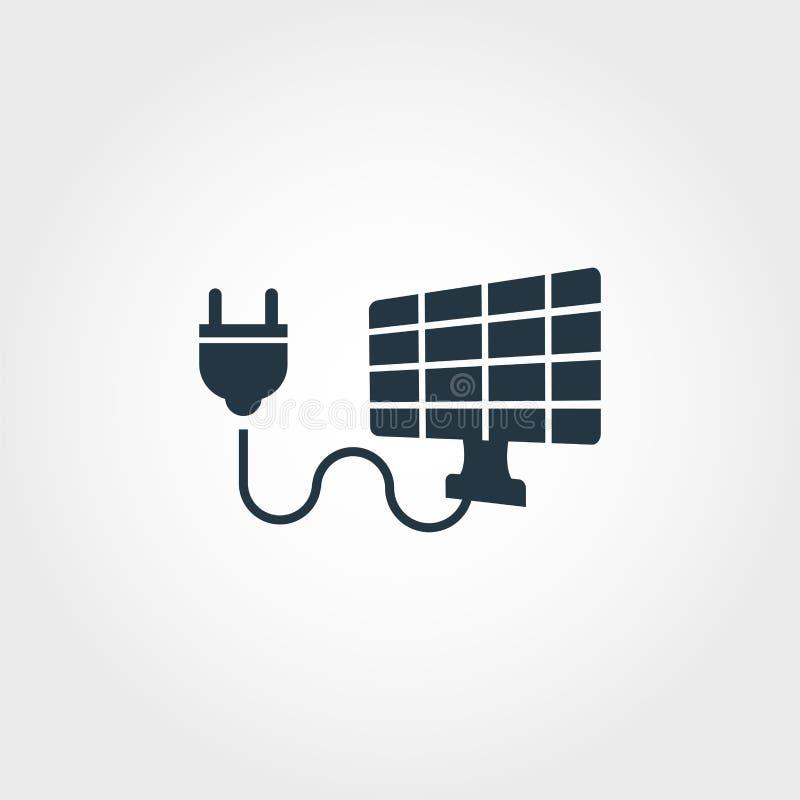 Idérik symbol för mjuk energi Monokrom stildesign från urbanismsymbolssamling Symbol för mjuk energi för rengöringsdukdesign, app stock illustrationer