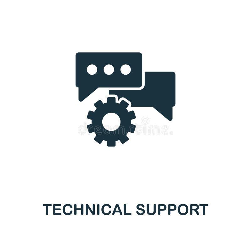 Idérik symbol för teknisk service Enkel beståndsdelillustration För begreppssymbol för teknisk service design från rengöringsduku stock illustrationer