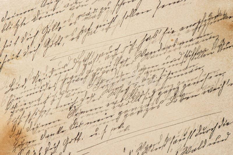 Idérik tappningpapperstextur Handskrift tonad bakgrund arkivbilder