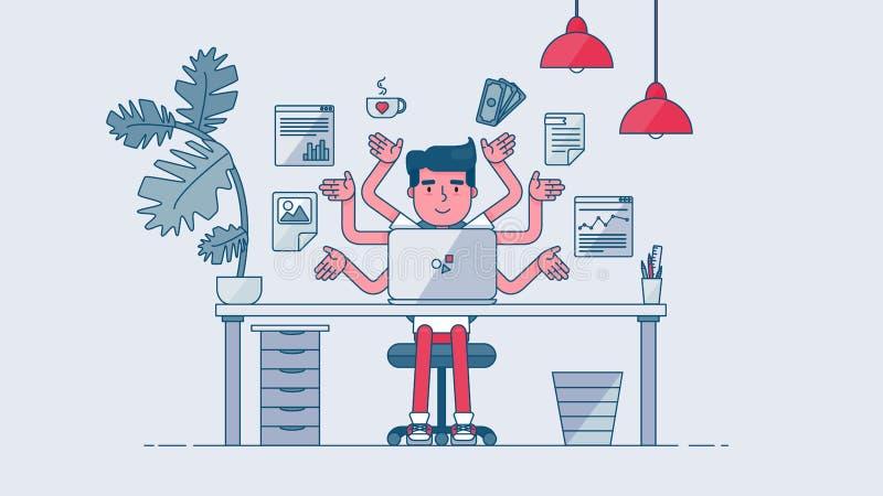 Idérik TechWorkspace vektor illustrationer
