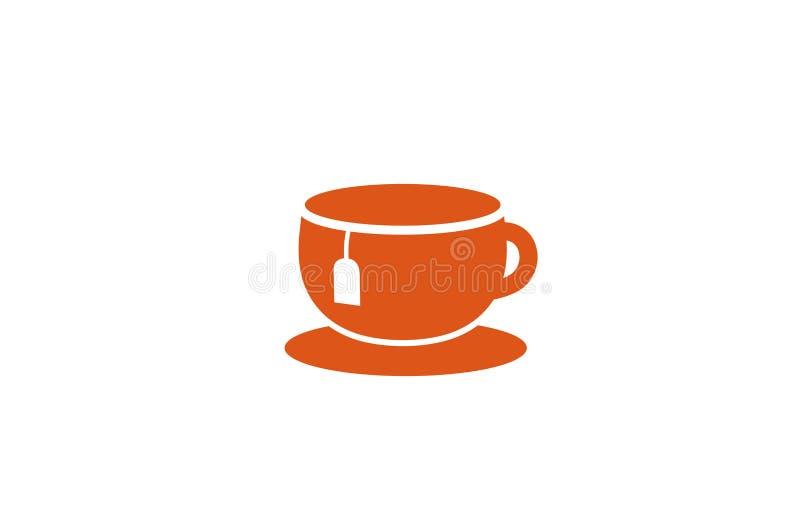 Idérik tekopp Logo Design Vector Symbol Illustration royaltyfri fotografi