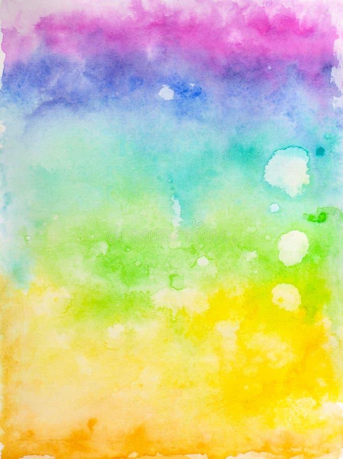 Idérik textur Vibrerande vattenfärgbakgrund Handgjord samkopiering Dekorativt kaotiskt färgrikt texturerat PA royaltyfri illustrationer