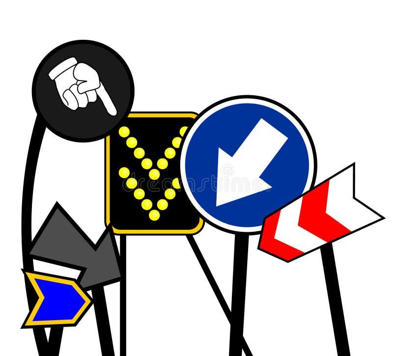 idérik trafik stock illustrationer