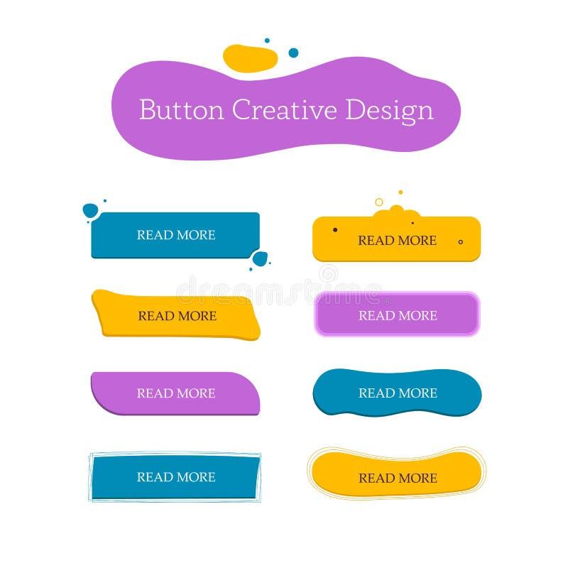 Idérik uppsättning för knapp vektor illustrationer