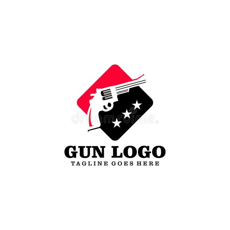 Idérik vektor Art Logo för vapenlogodesign vektor illustrationer