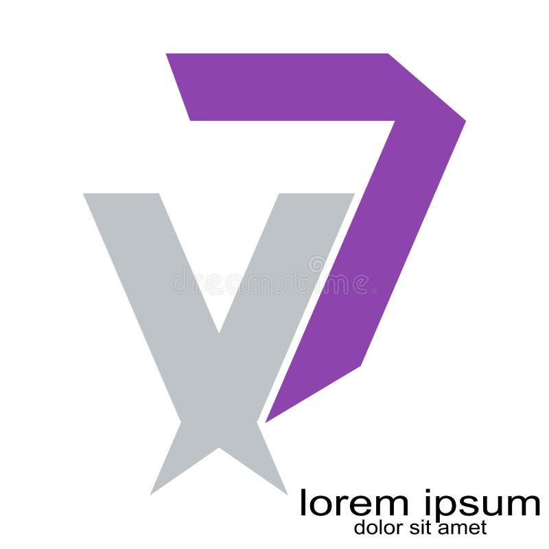 Idérik vektor för logo för bokstav D för abstrakt begrepp för prövkopiadesign royaltyfri illustrationer
