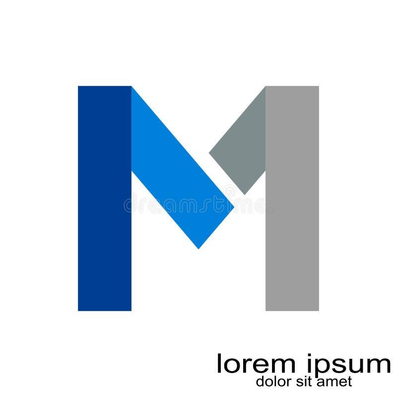 Idérik vektor för logo för bokstav M för prövkopiadesign vektor illustrationer