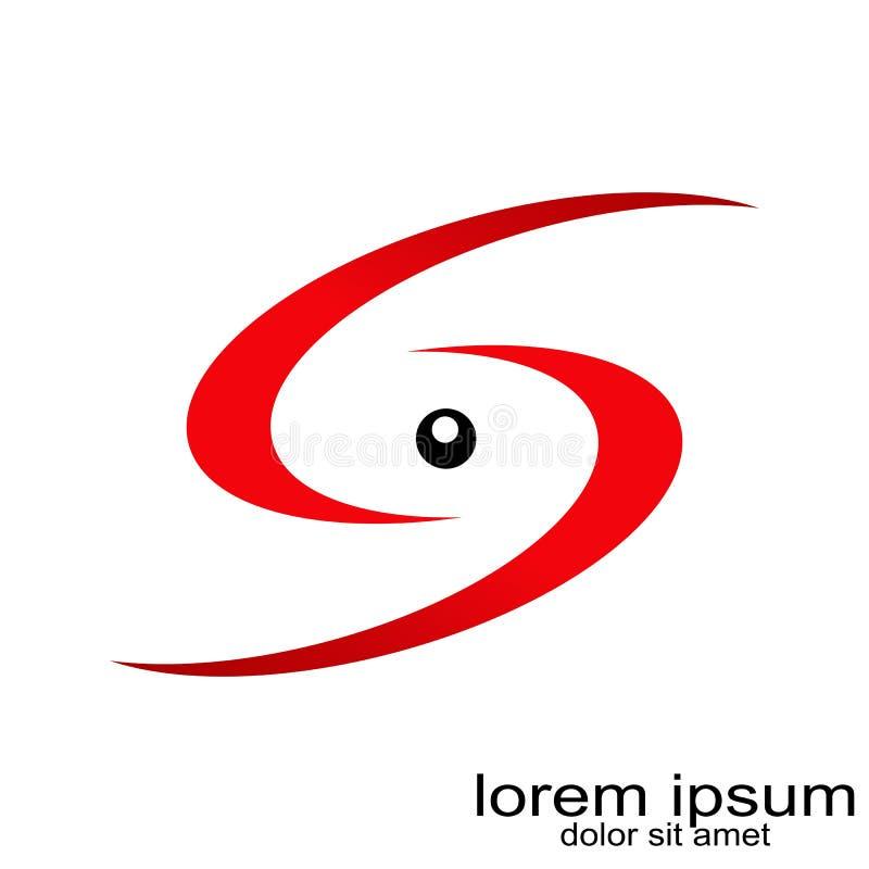 Idérik vektor för logo för bokstav s för prövkopiadesign royaltyfri illustrationer
