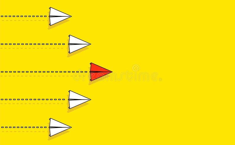 Idérik vektorillustration av folkmassapappersnivån Begrepp av ledarskap, teamwork och kurage Infographic konstdesign abstrakt G royaltyfri illustrationer