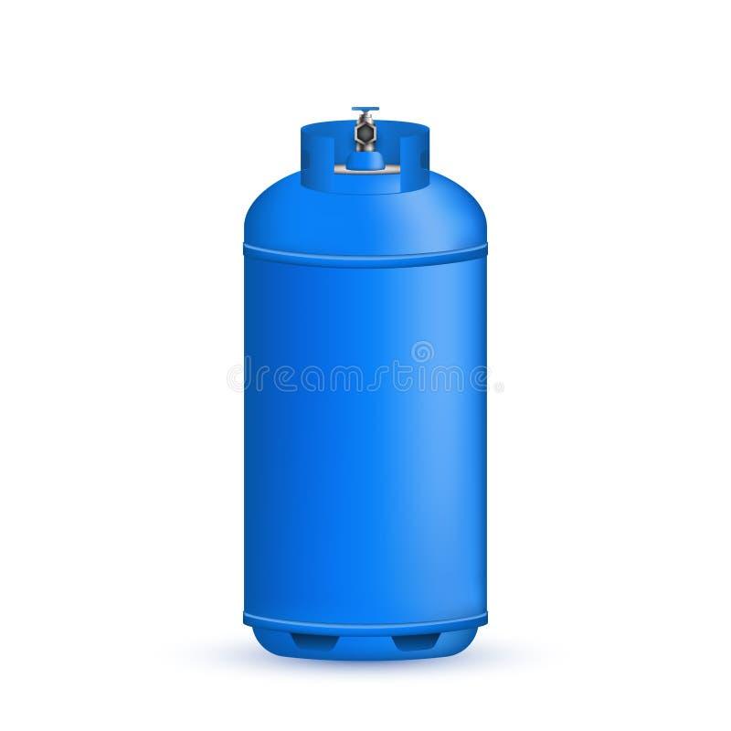 Idérik vektorillustration av gascylindern, behållare, ballong, behållare av propan, butan, acetylen, koldioxid vektor illustrationer