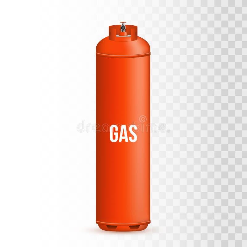 Idérik vektorillustration av gascylindern, behållare, ballong, behållare av propan, butan, acetylen, koldioxid stock illustrationer