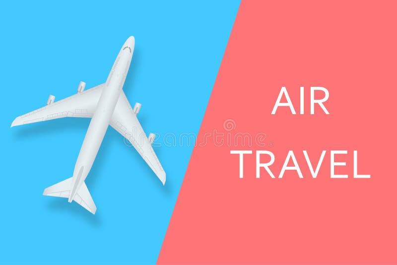 Idérik vektorillustration av nivån som isoleras på färgrik bakgrund Flygplan för bästa sikt Loppkonstdesign av sommar stock illustrationer