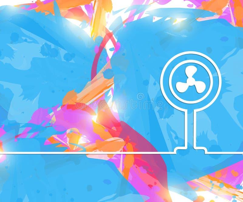 Idérik ventilator Bakgrund för konstillustrationmall För presentation orientering, broschyr, logo, sida, tryck, baner stock illustrationer