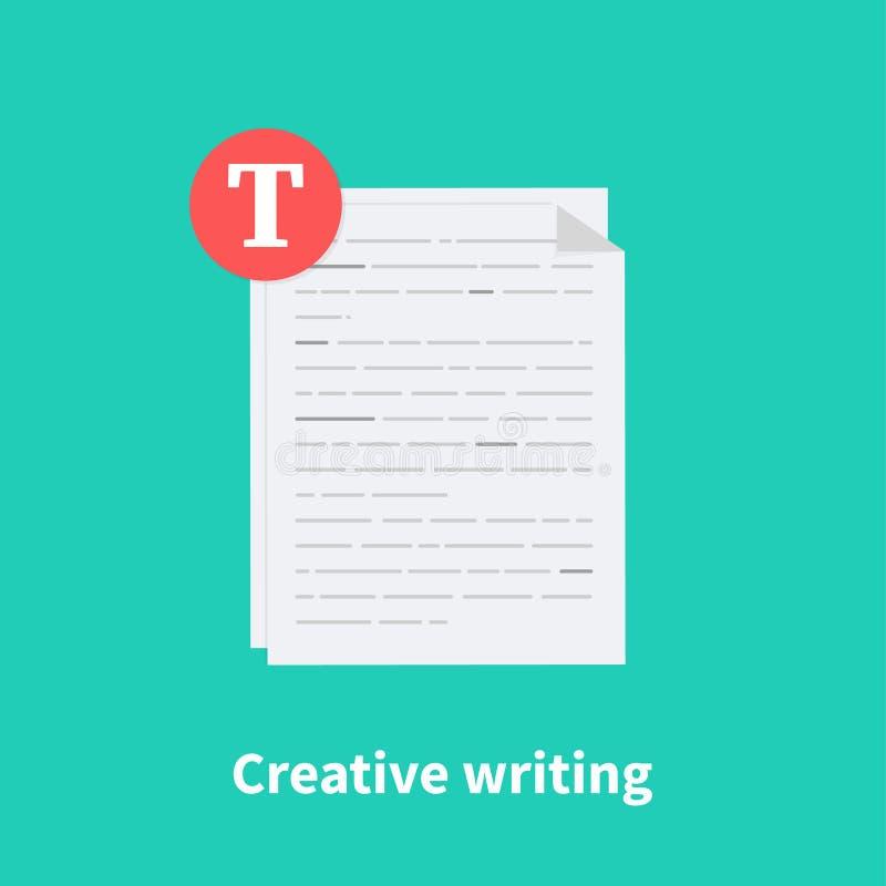 idérik writing Summarisk läsning, kort rapport, uppgiftsbegrepp, historieberättande och copywriting, grammatikgranskning royaltyfri illustrationer