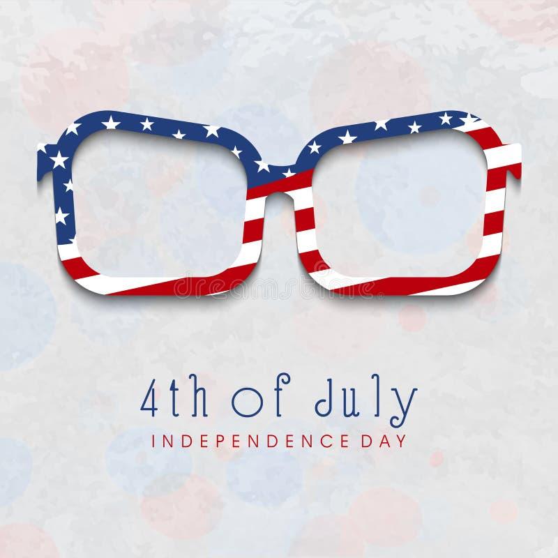 Idérika ögonexponeringsglas för 4th av Juli beröm royaltyfri illustrationer