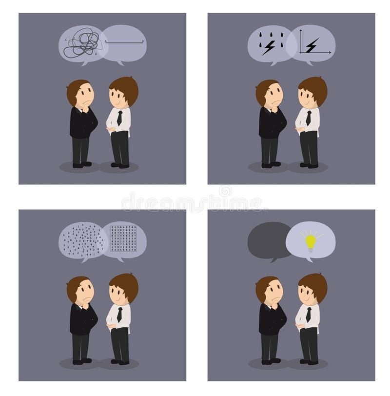 Idérika affärslösningar stock illustrationer