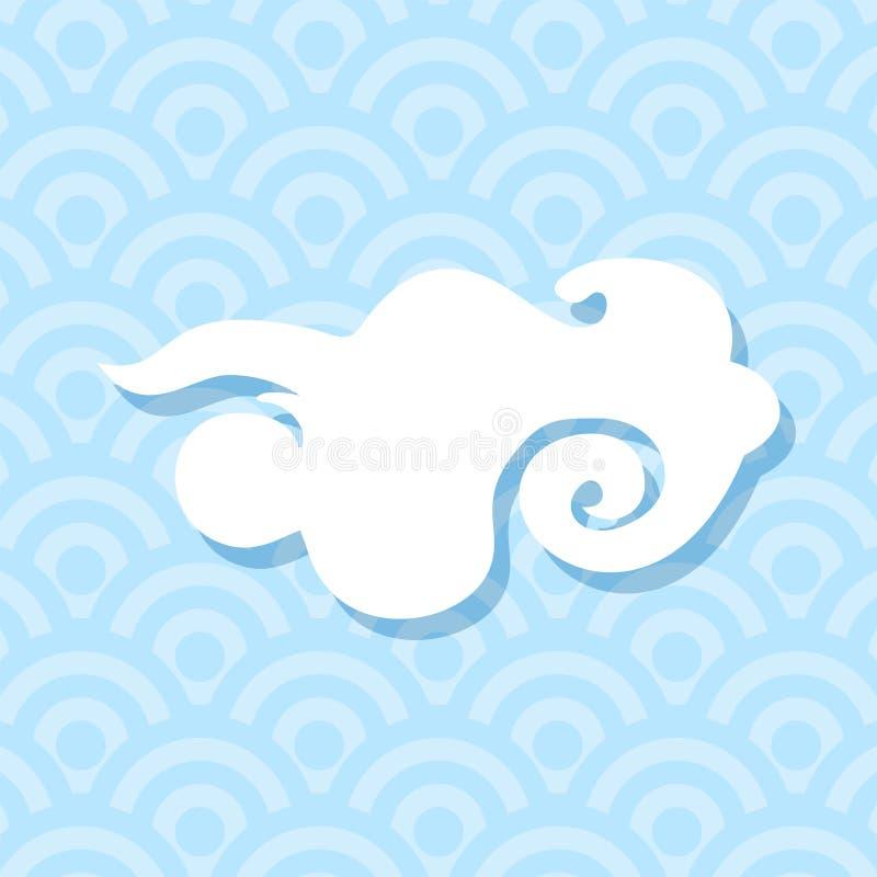 Idérika asiatiska moln royaltyfri illustrationer