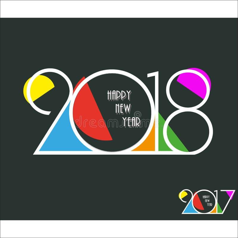 2018 idérika designbakgrund för lyckligt nytt år lyckligt nytt år arkivbild