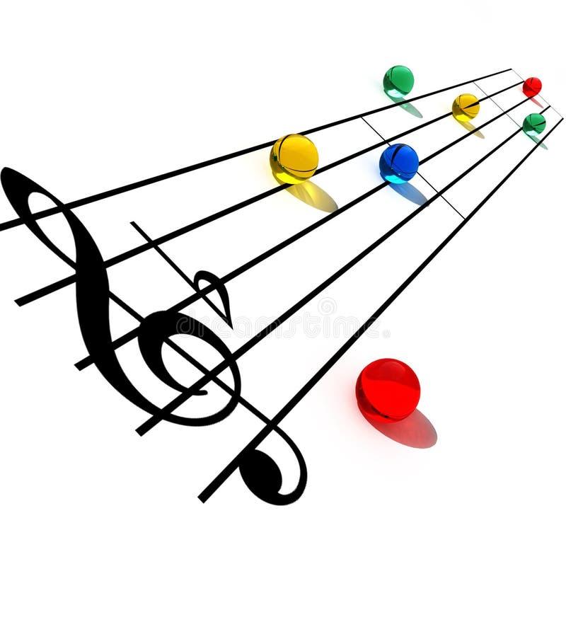 idérika musikaliska anmärkningar stock illustrationer