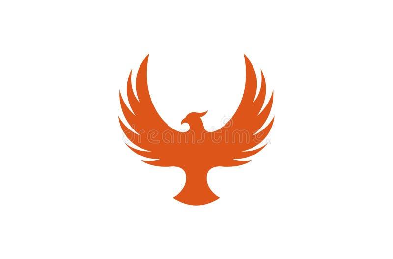 Idérika Pheonix Logo Design Vector Symbol Illustration fotografering för bildbyråer