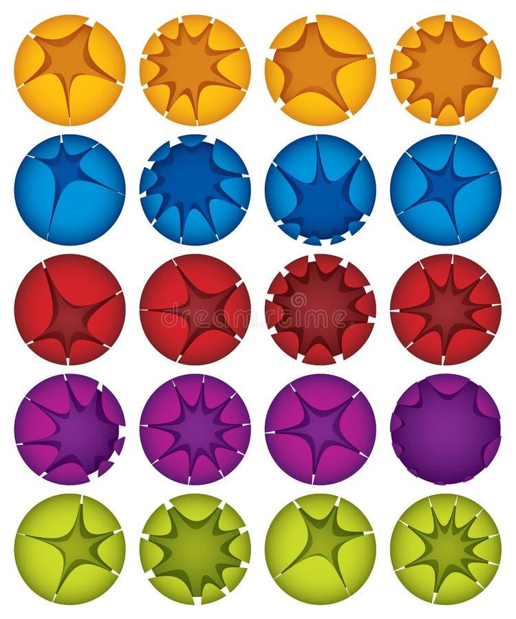 Idérika spheres. royaltyfri illustrationer