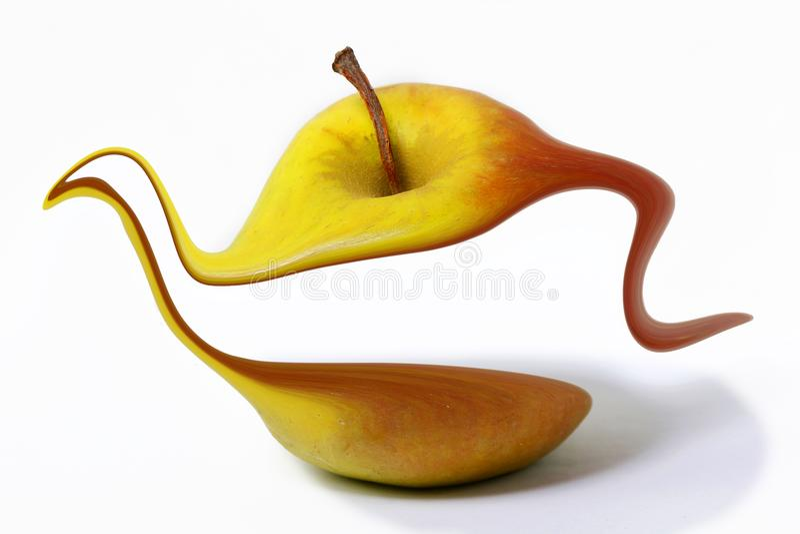 idérikt äpple royaltyfria foton
