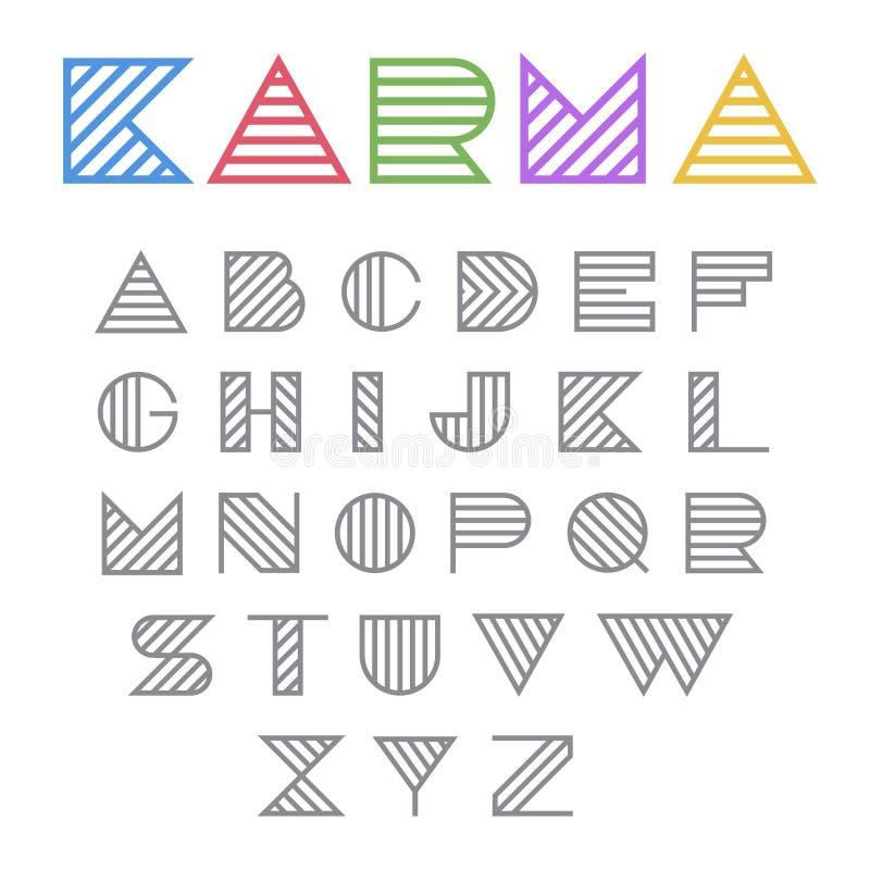 Idérikt abstrakt begrepp för vektor för logo för designmodestilsort royaltyfri illustrationer
