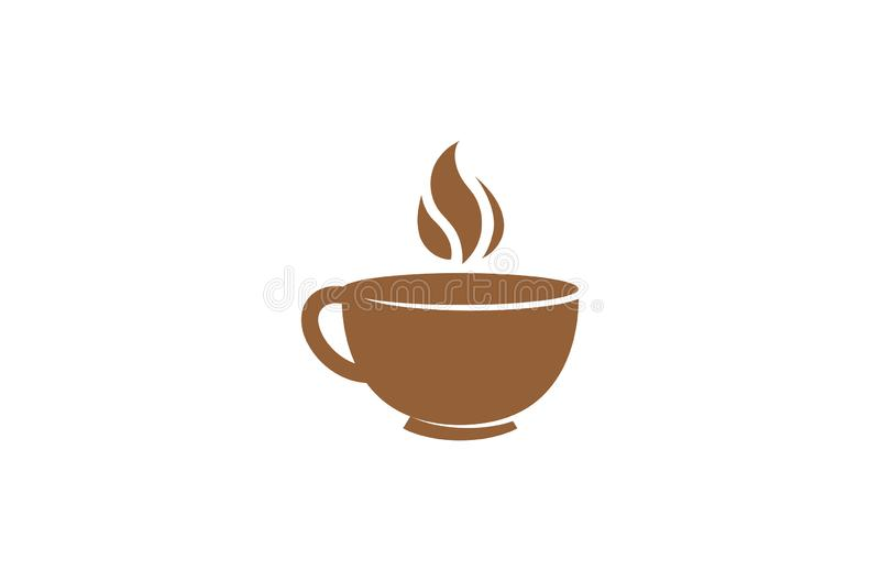 Idérikt abstrakt begrepp rånar kaffe Logo Design Vector Symbol Illustration stock illustrationer