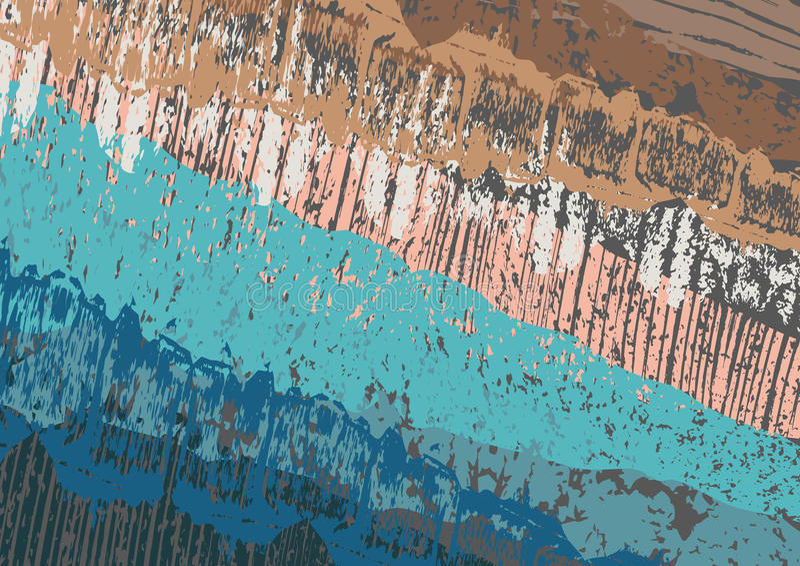 Idérikt abstrakt begrepp texturerad bakgrund Färgrik kludd retro design konst royaltyfri illustrationer