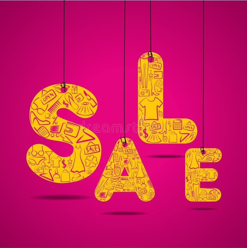Idérikt begrepp för försäljningsbakgrundsdesign stock illustrationer