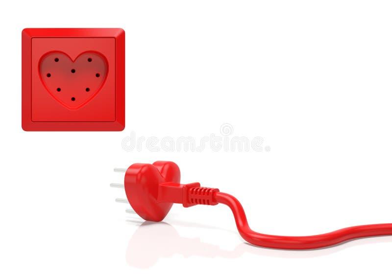 Idérikt begrepp för hjärtaförälskelse stock illustrationer