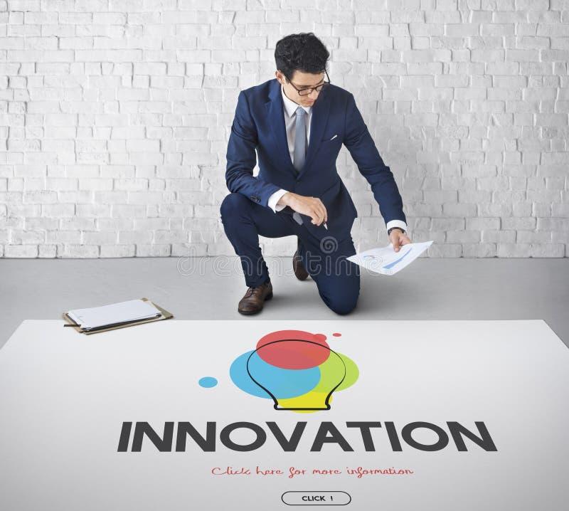 Idérikt begrepp för innovation för designprocess tänkande arkivbild