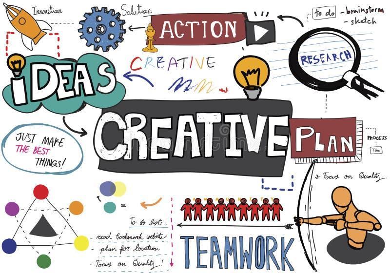 Idérikt begrepp för innovation för inspiration för kreativitetdesignidéer vektor illustrationer