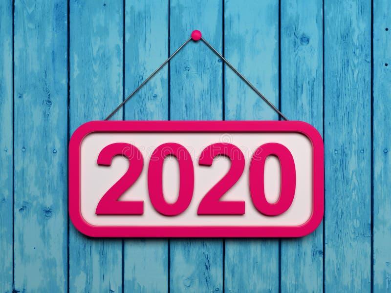 Idérikt designbegrepp för nytt år 2020 royaltyfri fotografi