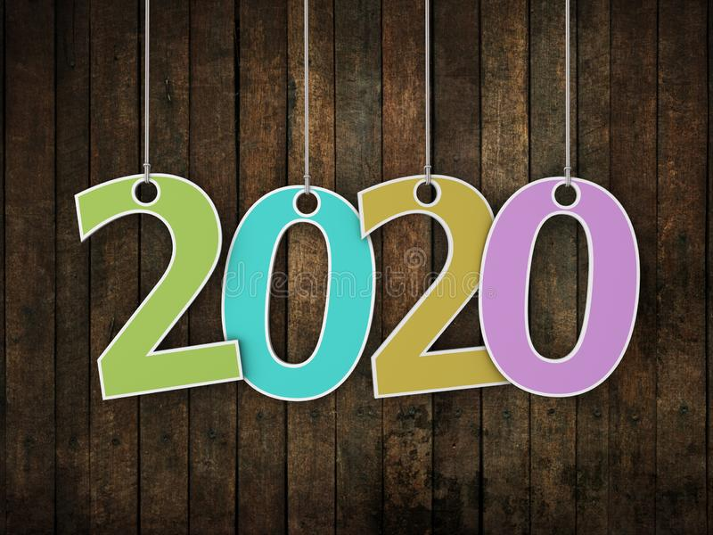 Idérikt designbegrepp för nytt år 2020 royaltyfri foto