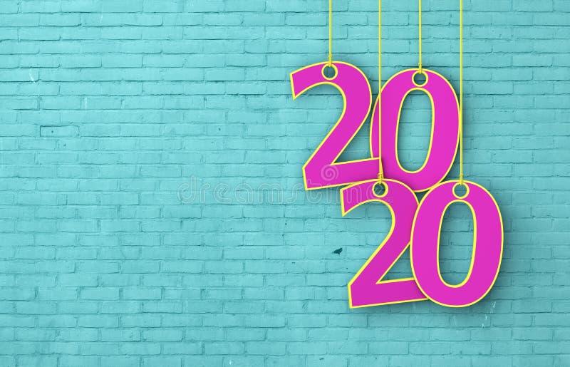 Idérikt designbegrepp för nytt år 2020 royaltyfria bilder