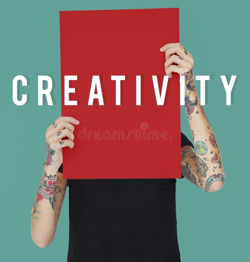 Idérikt för idéfantasi för tänka begrepp för design arkivfoton