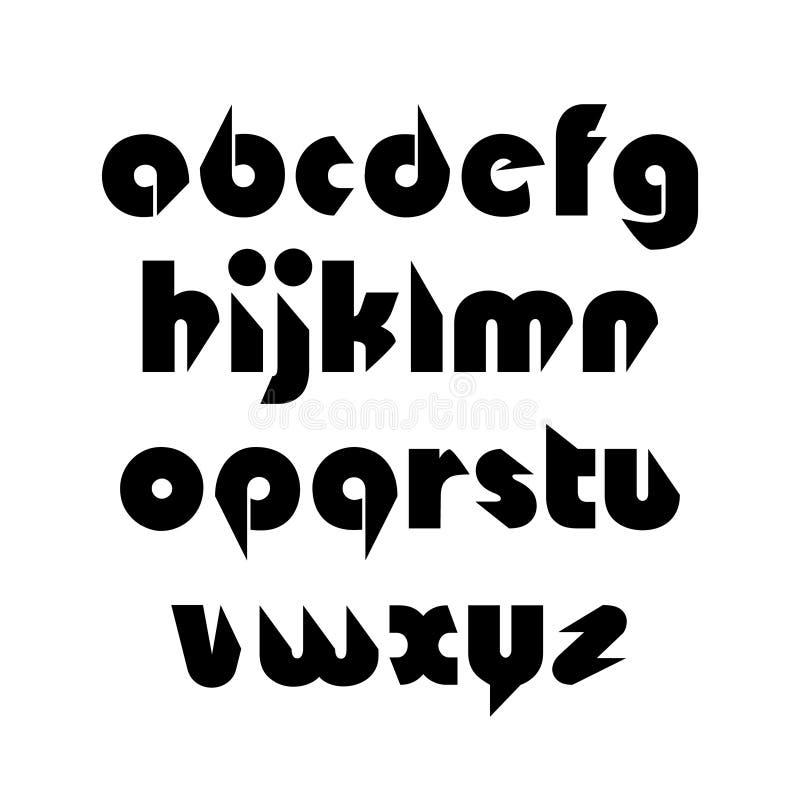 Idérikt fasat alfabet vektor illustrationer