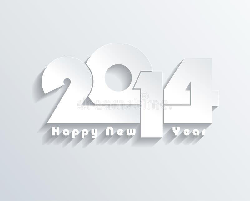 Idérikt hälsningkort för lyckligt nytt år 2014 royaltyfri illustrationer