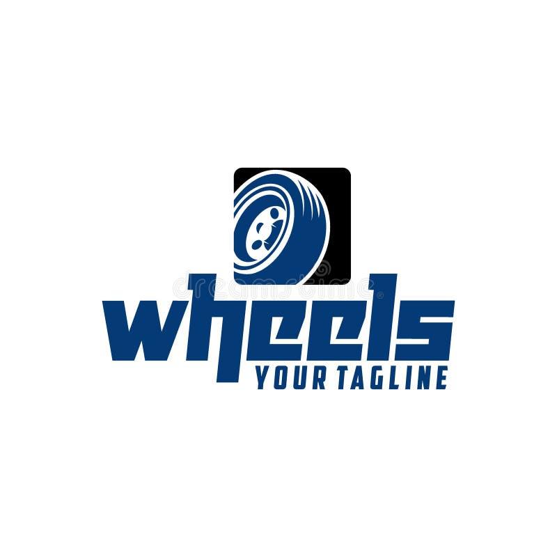 Idérikt hjul Logo Vector Art Logo royaltyfri illustrationer