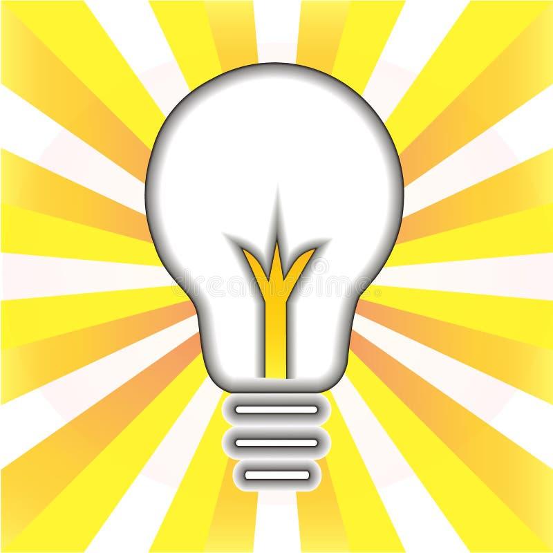 Idérikt idésymbol För framgångbegrepp för ljus kula logo för symbol royaltyfri illustrationer
