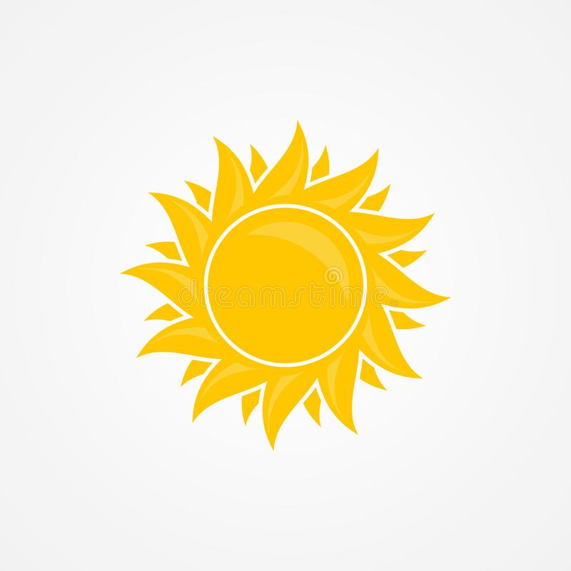 Idérikt illustration av för sommarsymbol för sol den vektor isolerade designen på den vita bakgrunden royaltyfri illustrationer
