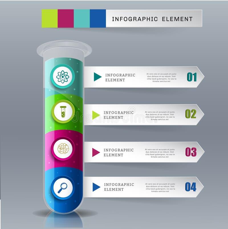 Idérikt mallrörexponeringsglas för infographic royaltyfri illustrationer